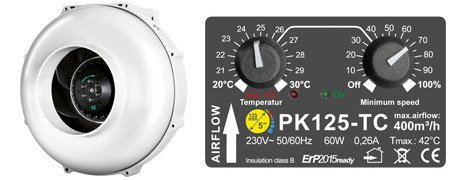 PK125 400m3/h  with temperature and speed controllers